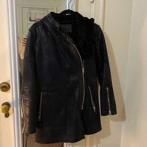 Blank NYC fur lined jacket